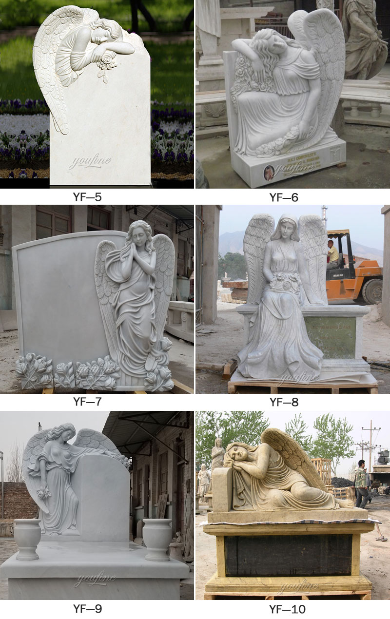 cheap angel tombstones for sale