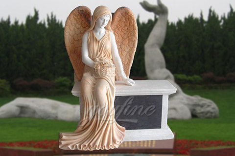 2017 Hot Sale Marble Sitting Angel Memorial
