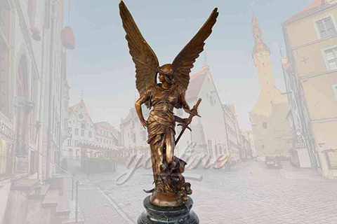 Classical famous outdoor bronze angel statues with sword