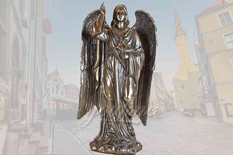 Classical large detailed casting bronze angel statues for sale