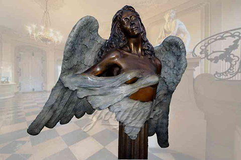 Graceful garden customized bronze angel statues for decor