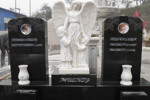 Hand Carved White marbleStone Angels Marble Statues for decoration