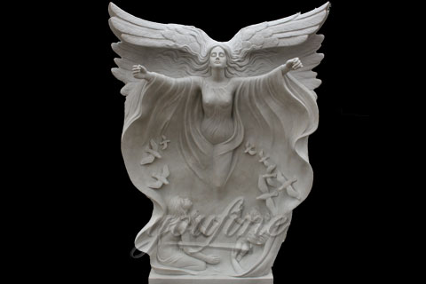 High Quality White Marble Angel Girl Statues for decoration