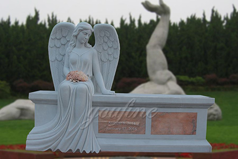 Hot Sale Beloved Angel Marble Headstones