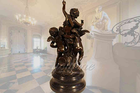 Hot sale superb indoor casting bronze cherub statues