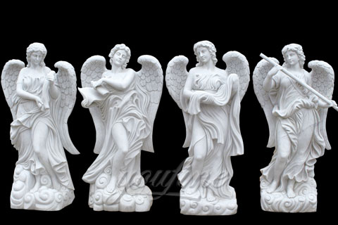 Natural Garden White Stone Four Season statues
