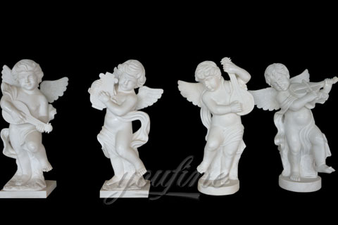 Natural Garden White Stone Little Angel Boys for sale