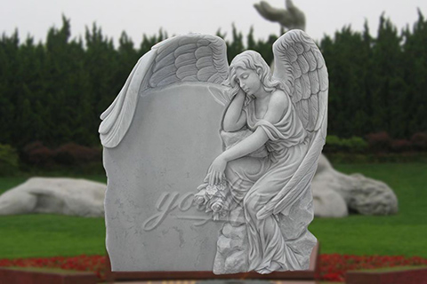 Sleeping White Angel Marble Headstones for Sale