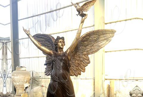 480 Casting Bronze Angel Statue with Peace Dove
