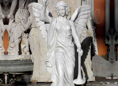 480 Outdoor Decorative White Angel Marble Statue