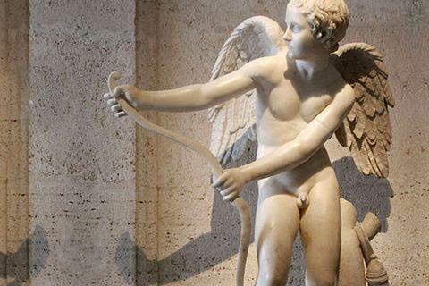 480Famous Greek Goddess Cupid Eros Marble Angel Statue Garden Outdoor for Sale