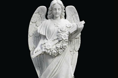 480Life Size Female White Marble Angel Statue Garden Decoration for Sale MOKK-262