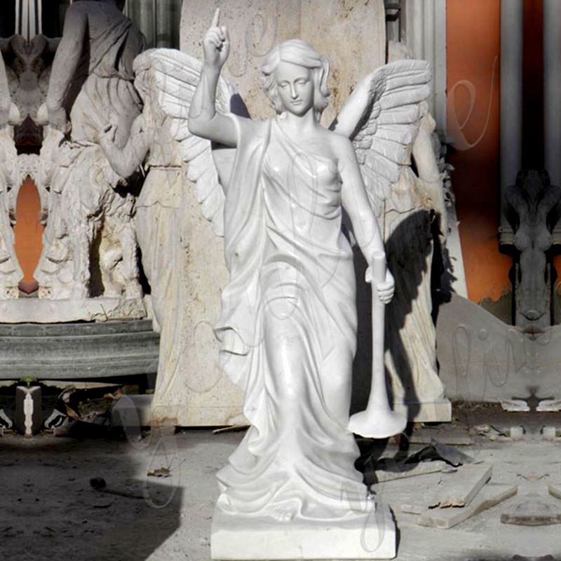 800 Outdoor Decorative White Angel Marble Statue