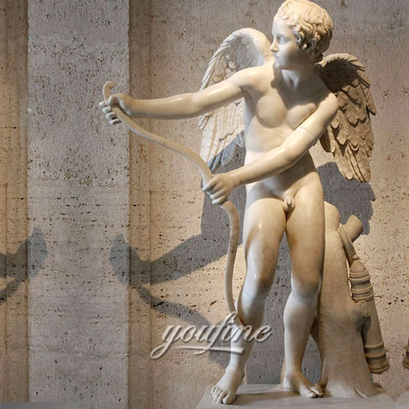 800Famous Greek Goddess Cupid Eros Marble Angel Statue Garden Outdoor for Sale