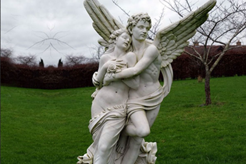 Life Size Cupid and Psyche Marble Statues