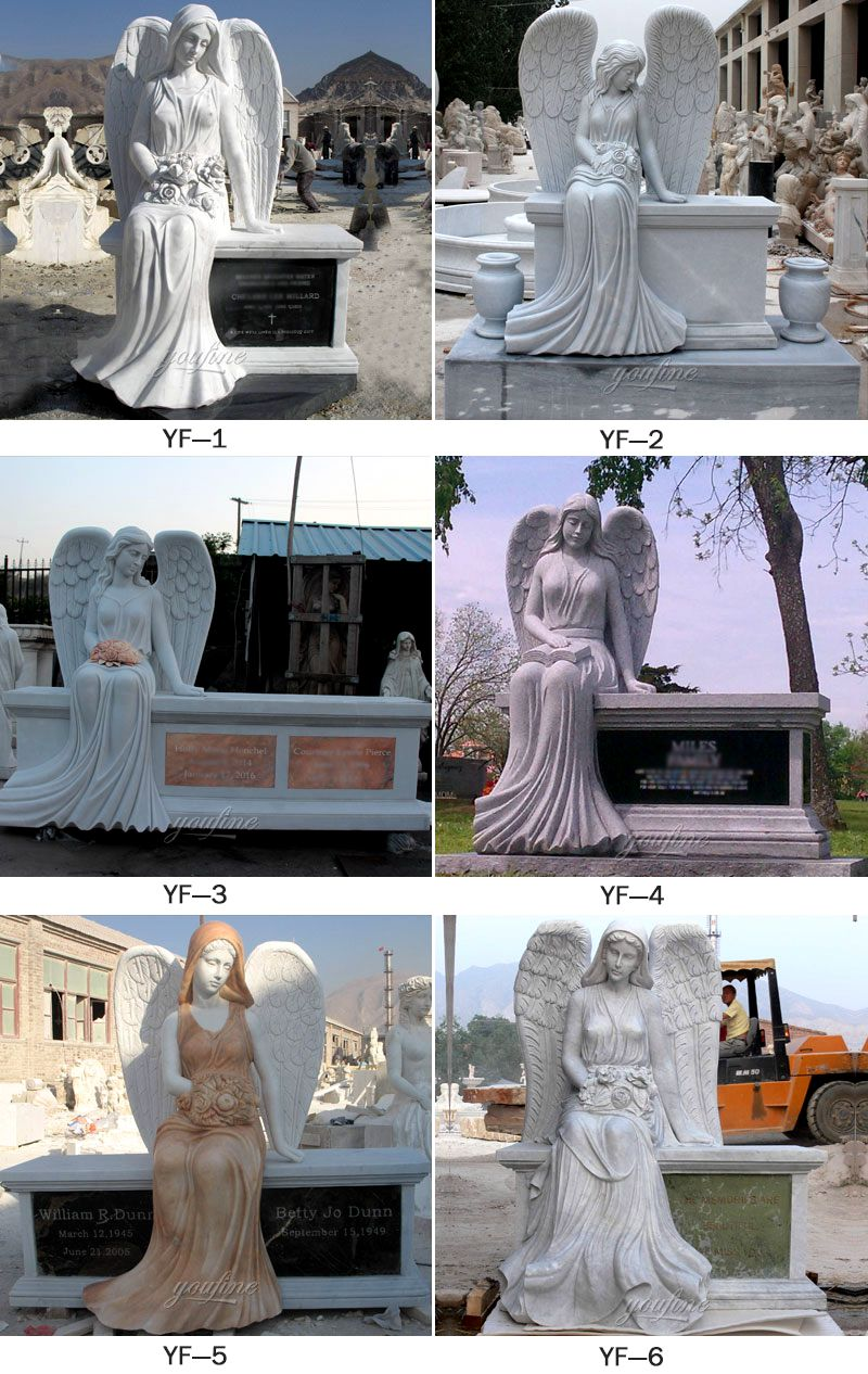 Marble Stone Sleeping Angel Tombstone and Monument for Sale