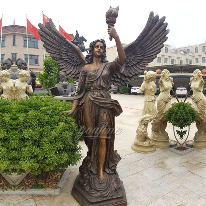 bronze angel sculptures for sale
