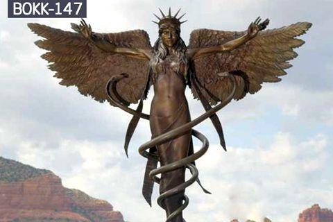 Bronze Allegory Snakes Caduceus Statue (2)