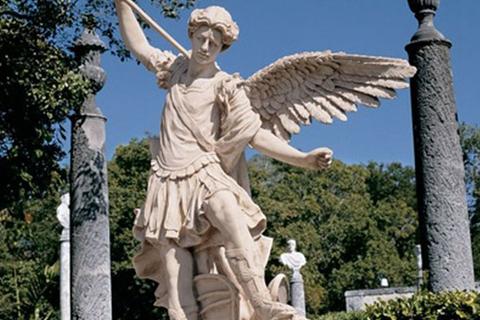 Famous Archangel St Michael Angel Marbel Statue (3)