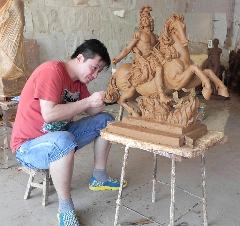 Famous Archangel St. Michael Angel Marble Statue (1)