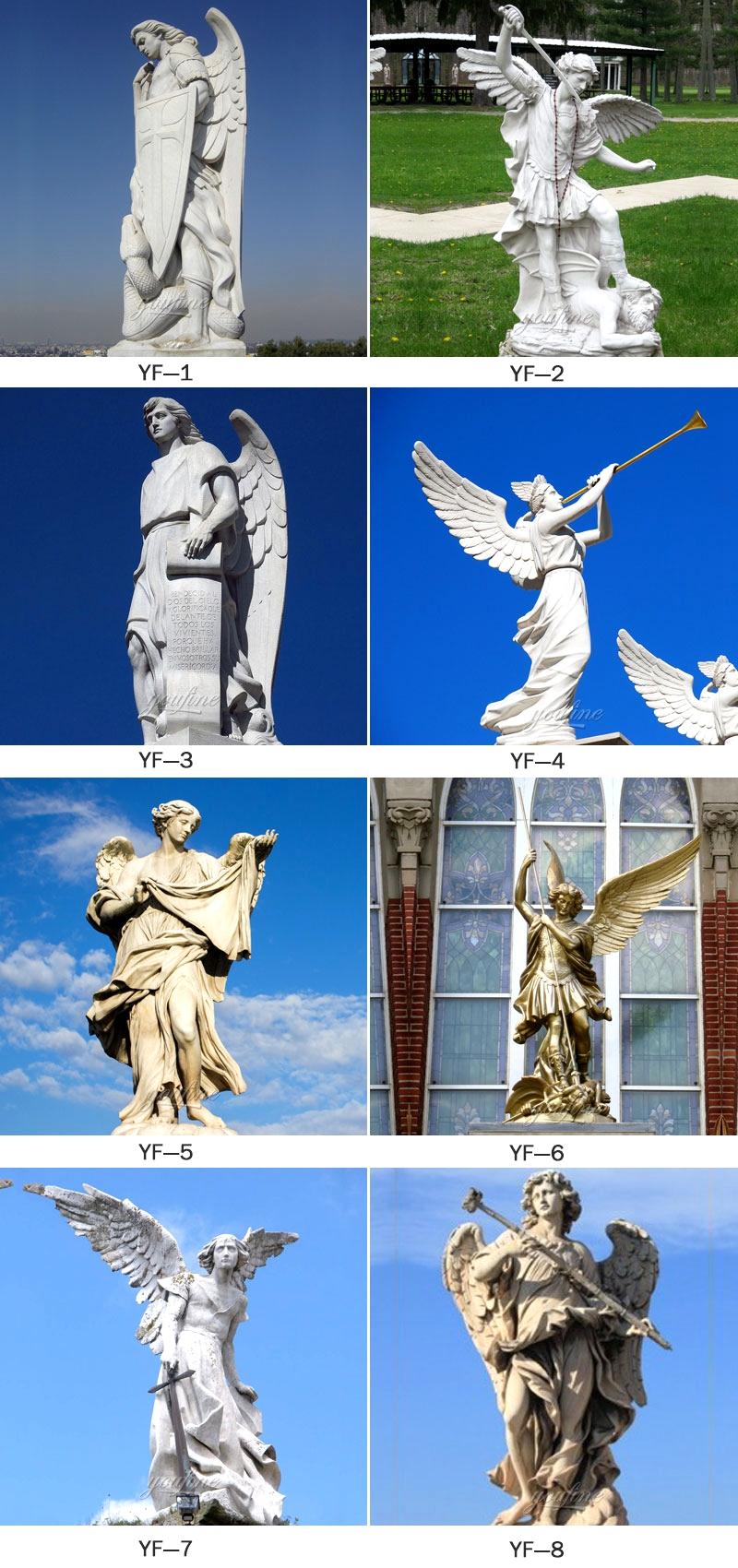 Famous Archangel St. Michael Angel Marble Statue (2)