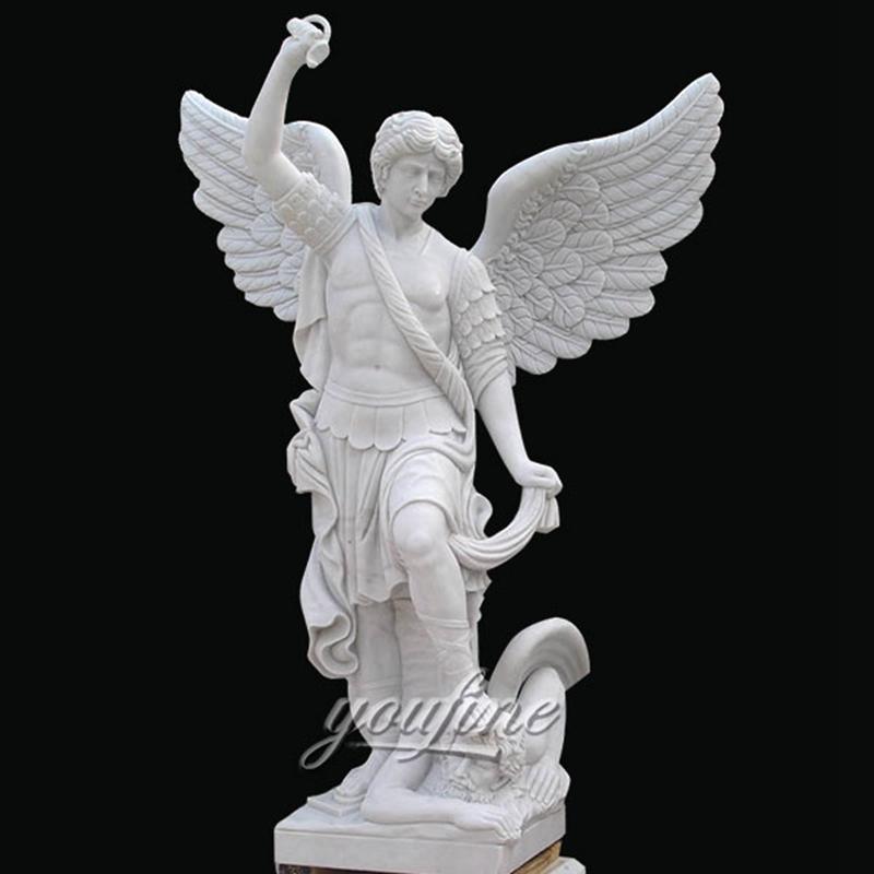 Famous Archangel St. Michael Angel Marble Statue (3)