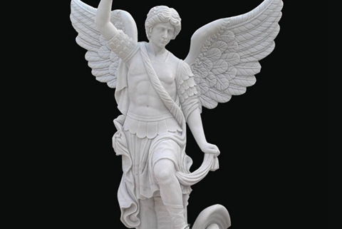 amous Archangel St. Michael Angel Marble Statue (4)