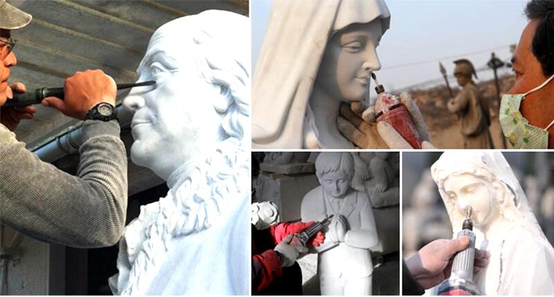 Famous Archangel St. Michael Angel Marble Statue (5)