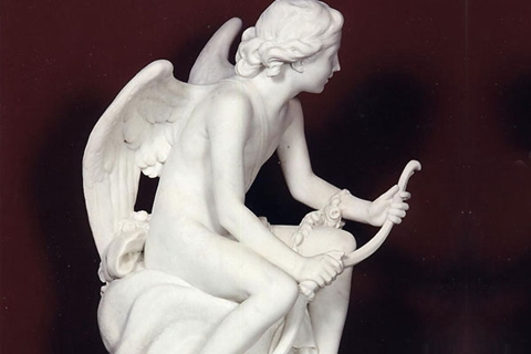 Famous Cupid Eros And Snake Marble Angel Statue (3)