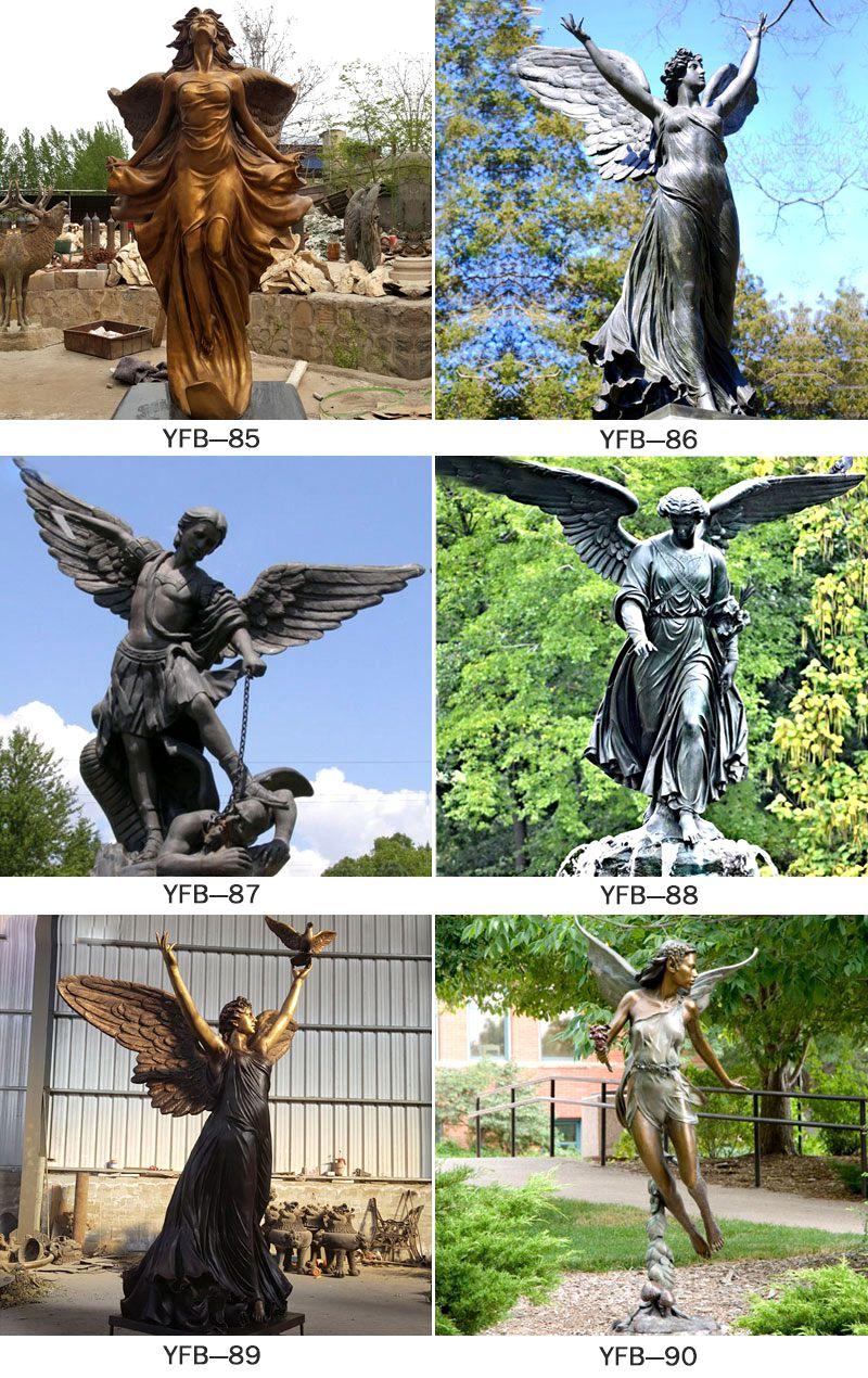 Female Figure Angel Bronze Archangel Statues