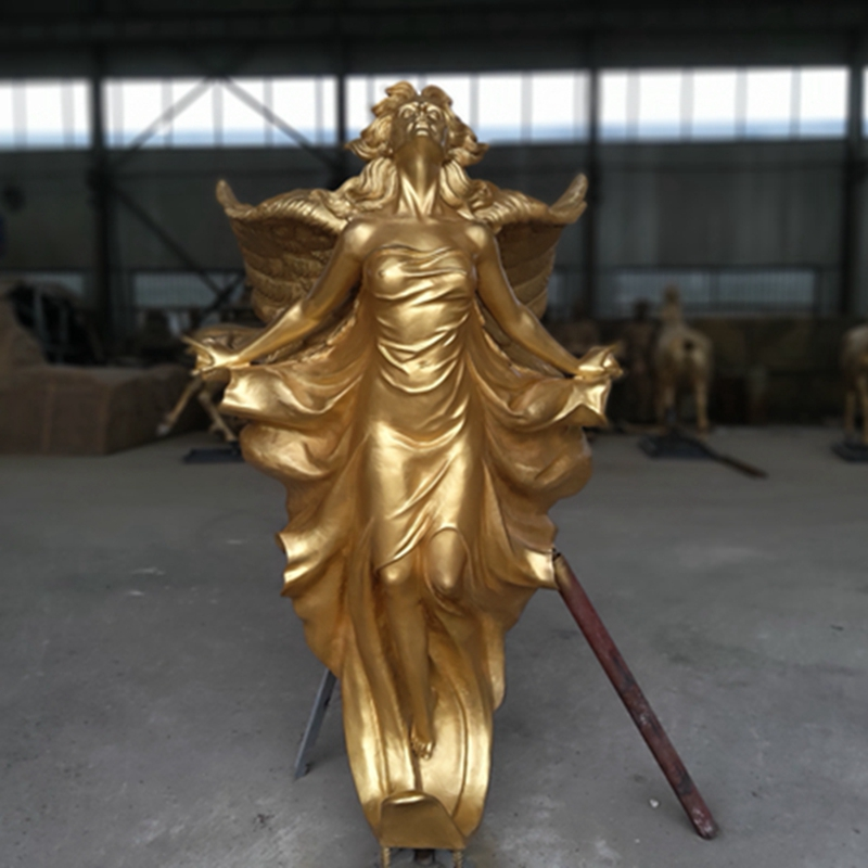Flying Female Angel Bronze Statue (2)