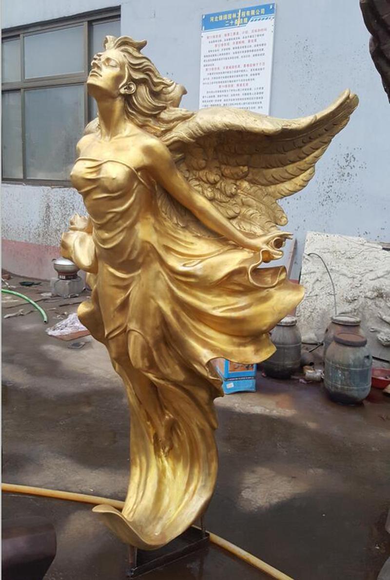 Flying Female Angel Bronze Statue (4)