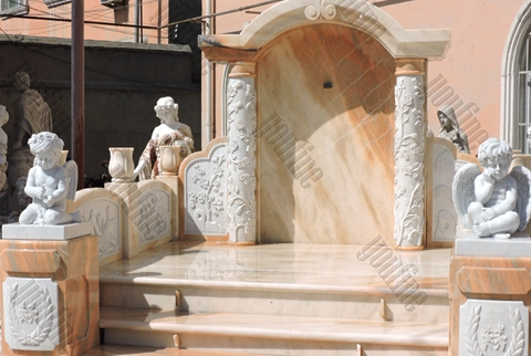 Luxury White Marble Angel Sculpture Tombstone (2)