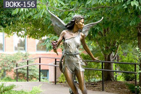 Pretty Winged Elf Bronze Angel Sculpture (5)