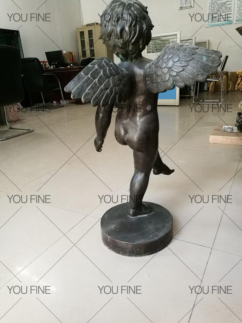 Little Cherubs Eros Cupid Bronze Angel Statue