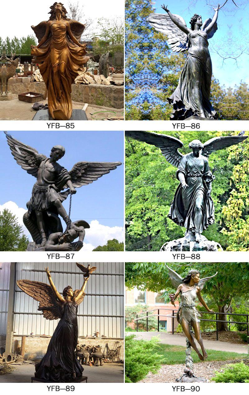Female Figure Bronze Statue Angel