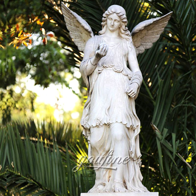 Outdoor yard life size angels marble statues for sale