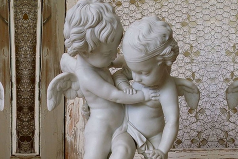 Famous Baby Cupid Art Decoration Angel Marble Statues (2)