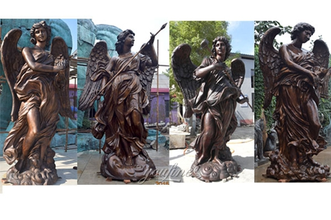 Famous Baroque Art Bernini Angel Designs Replicas Bronze Angel Statue (2)