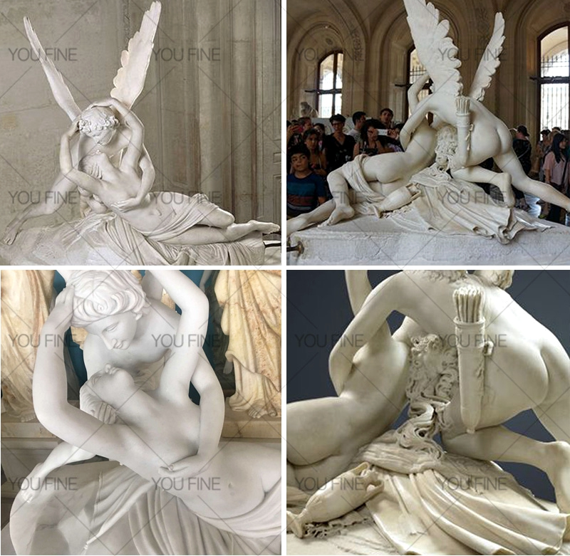 Famous Eros And Psyche Angel Marble Lover Statue (1)