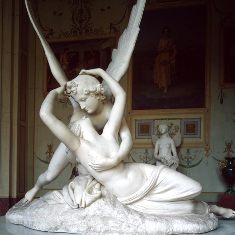 Famous Eros And Psyche Angel Marble Lover Statue (2)