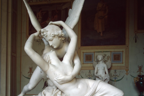 Famous Eros And Psyche Angel Marble Lover Statue (3)