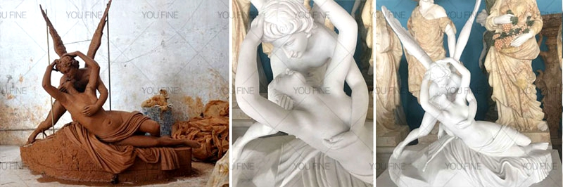 Famous Eros And Psyche Angel Marble Lover Statue (4)