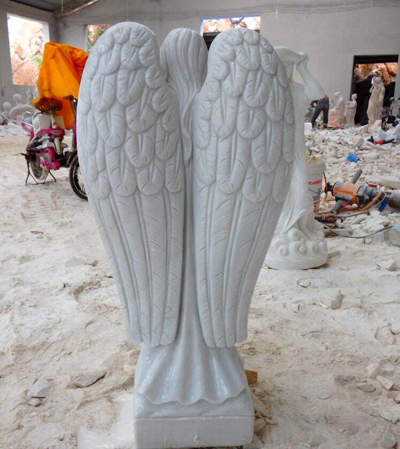 Garden Female Marble Angel Statue for Germany Customer (1)