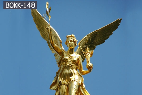 Golden Angel of Peace Monument Bronze Angel Sculpture (2)