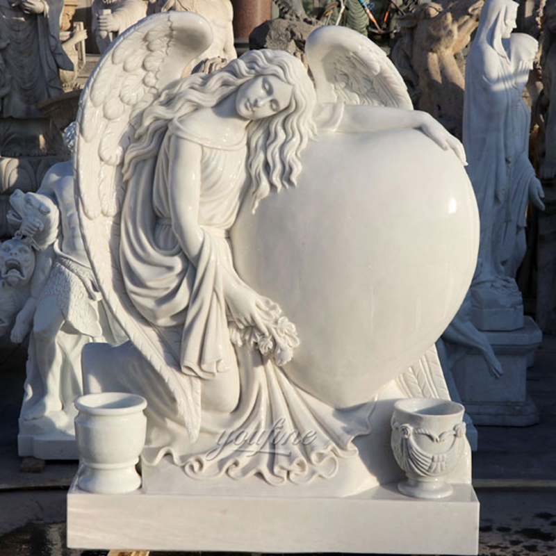 Heart Style Angel Marble Monument Tombstone (2)