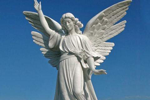 Large Beautiful Female Stone Marble Angel Statue (4)