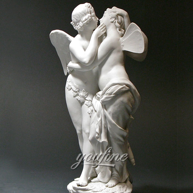 Life Size Famous Cupid And Psyche Lover Marble Angel Statue (1)