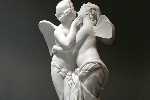 Life Size Famous Cupid And Psyche Lover Marble Angel Statue (2)