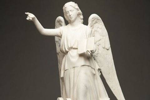 Life Size Praying Angel Marble Statue (5)